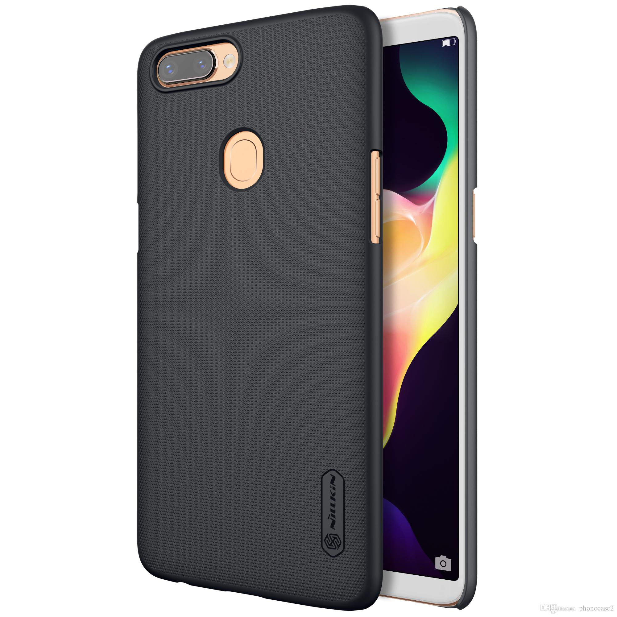 the best attitude 8a25a 94776 For OPPO R11S Plus Case Cover Nillkin Frosted Case For OPPO R11S Plus Case  Hard Plastic Back Cover Screen Protector