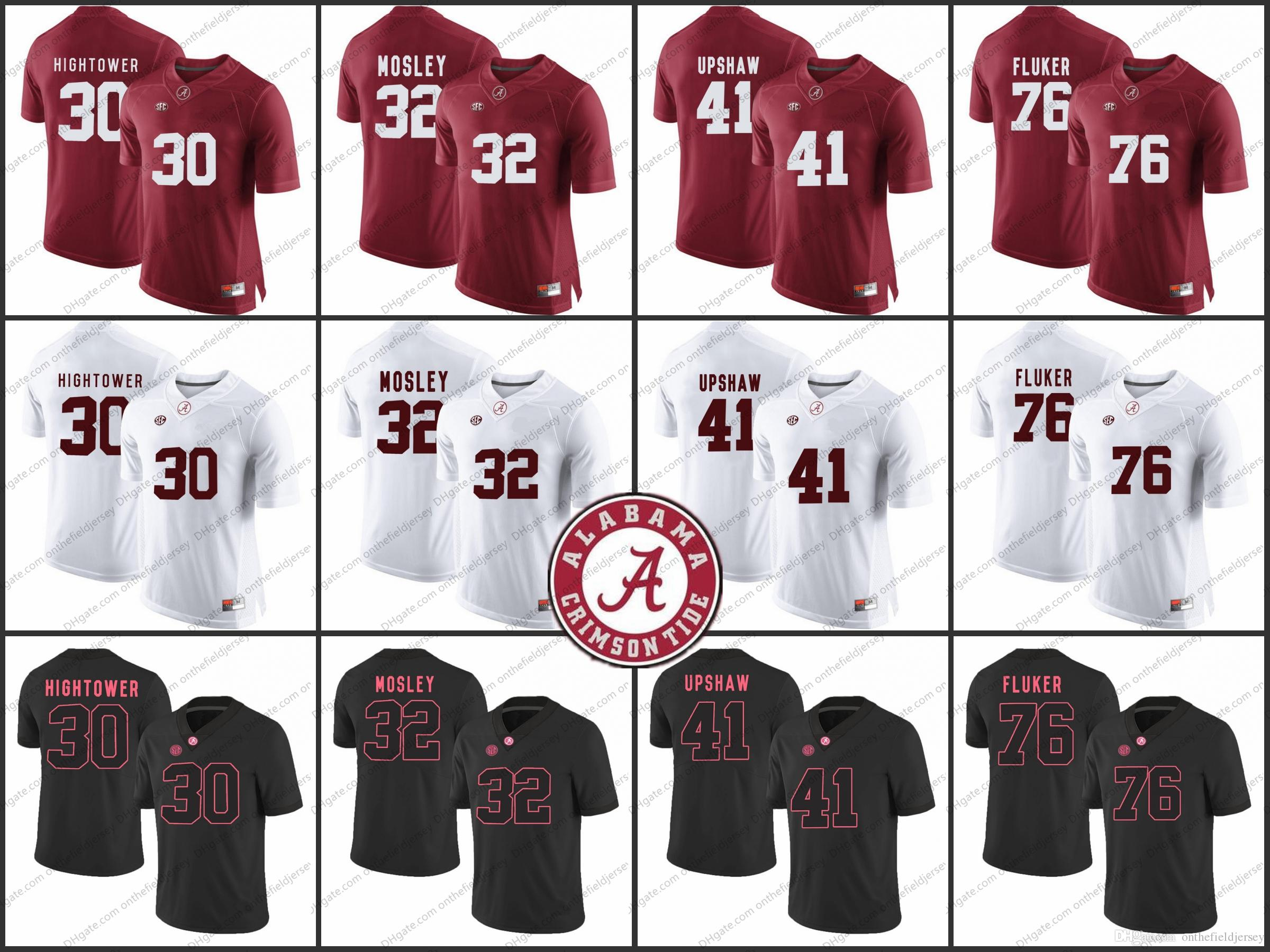 449528efd nike alabama crimson tide 4 game football jersey white; alabama crimson  tide ncaa 30 donta hightower 32 cj mosley 41 courtney upshaw 76 dj fluker
