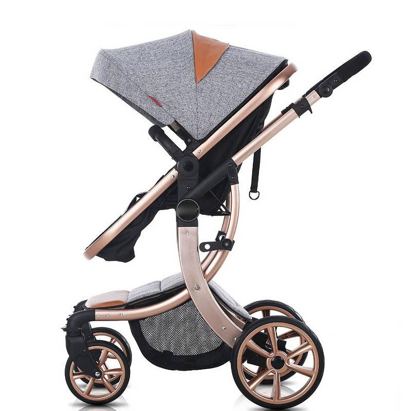 2019 New Design High Landscape Luxury Baby Stroller 6 Colour Four