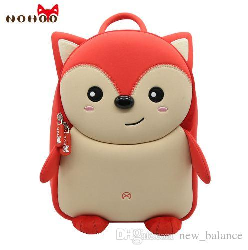 46c388a8b0 Nohoo Cute Fox Animal School Bag For Boys Kids Waterproof Backpack  Kindergarten Girls 3D Cartoon Shape Mochila For 2 7 Years Old School Bags  For Girls ...