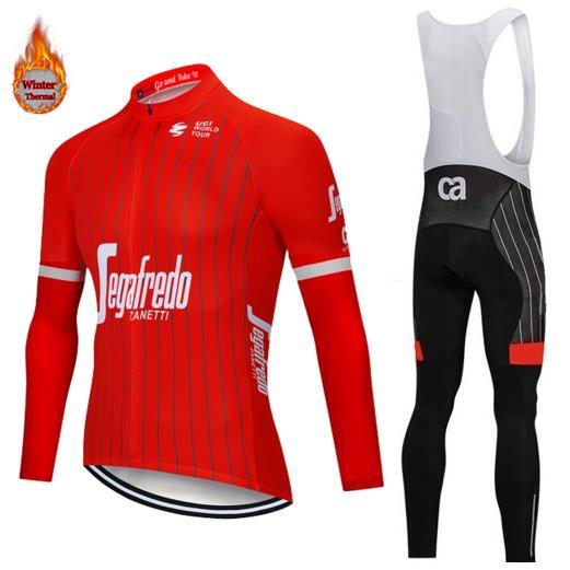 2018 Men S Sets Autumn Winter Season Long Sleeve Cycling Clothing Pro Team  Cycling Clothing Breathable Bib Jerseys Set Fluorescent Mountain Bike  Apparel ... 3230afa03