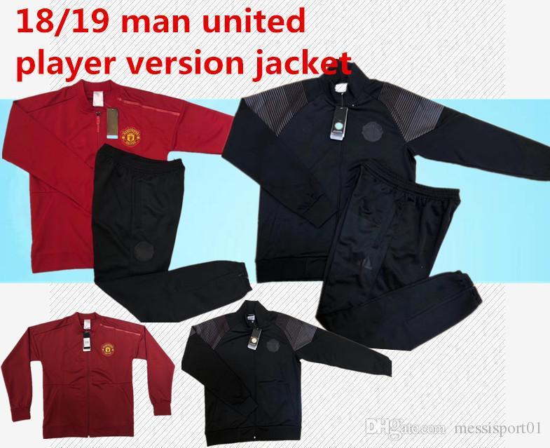 b5d000f55 Player Version Manchester United Tracksuit 18 19 Survetement Set Football  JACKET Kit Soccer Chandal 18 19 LUKAKU United Sweater Suit Manchester United  ...