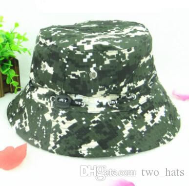 dcb4a33e 2019 Camouflage Boonie Hunting Fishing Bucket Cotton Hats Men Safari Summer  Hat Cap Hunting Hat Women Travel Sun Cap Outdoor Camo Hat Wholesale J From  ...