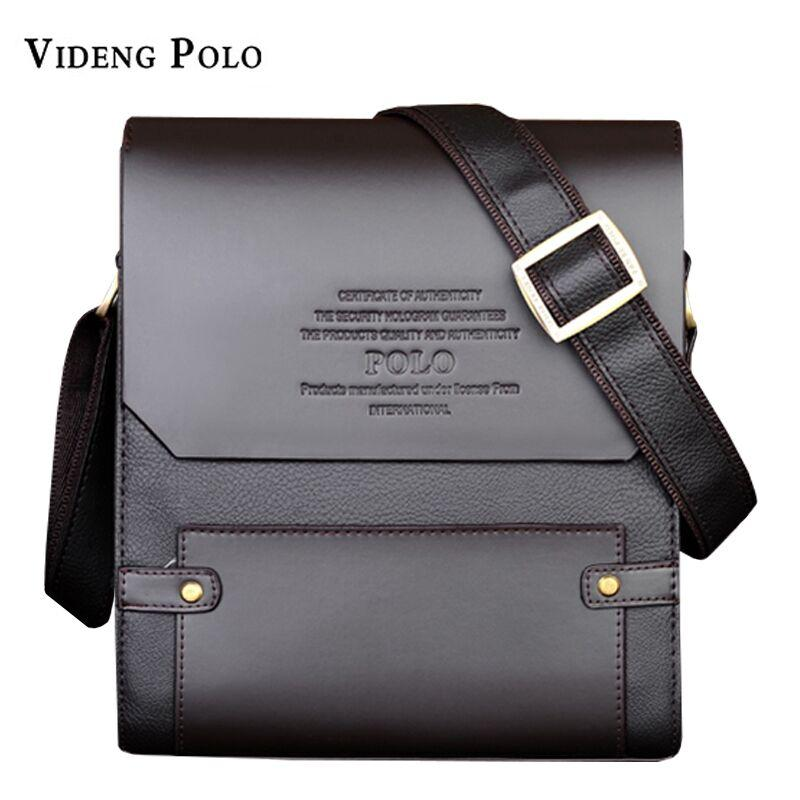 VIDENG POLO Famous Brand Men Leather HandBag Casual Vintage Messenger Bag  Classic Business Briefcase Man Crossbody Shoulder Bags Wholesale Purses  Designer ... 5500ec250a