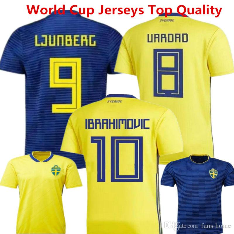 2019 Sweden Soccer Jersey Zlantan Ibrahimovic Maillot De Foot 2018  Kallstrom Sebastian Larsson World Cup Long Sleeve Football Shirts Uniforms  From Fans Home ... 3844e02fa