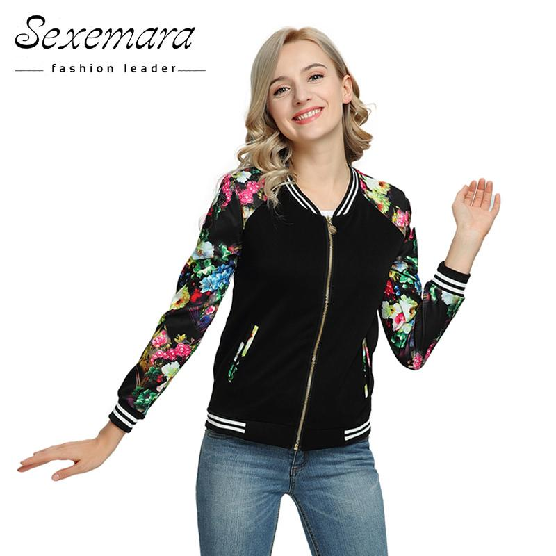 653fa610e35 Bomber Baseball Spring Autumn Jacket For Women 2018 Fashion Zipper ...