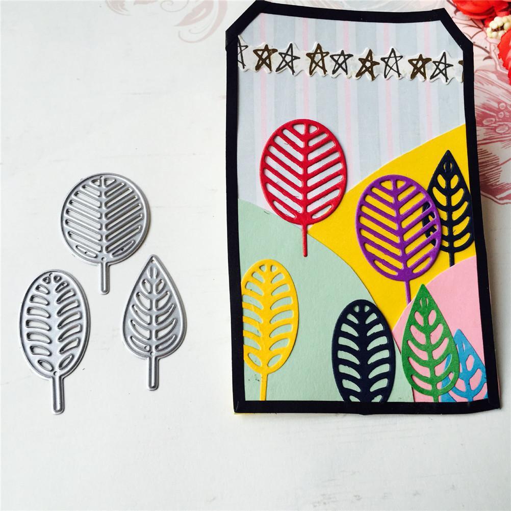 Leaves Metal Cutting Dies Scrapbooking Paper Card Make Album Envelope Embossing Decorative Stencil Dies Cutter