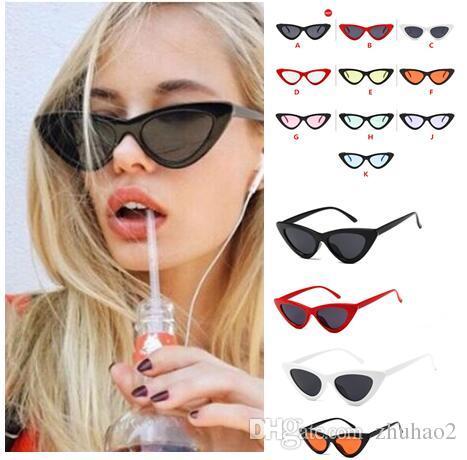 1897a507ba 2019 Outdoor Eyewear Retro Triangle Cat Eye Sunglasses Fashion Star Same  Style Outdoor Sunglasses Women Street Equipment 16 Colours   KJ01 From  Zhuhao2