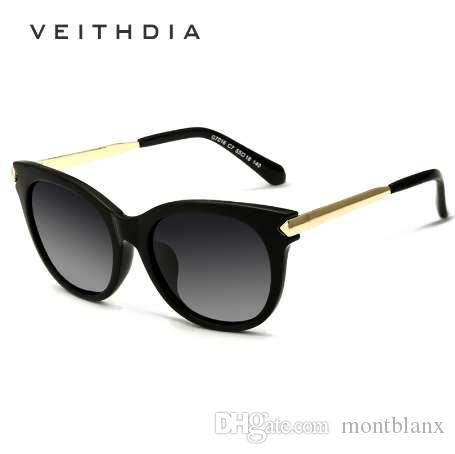 c01299b2f VEITHDIA Retro TR90 Vintage Sun Glasses Polarized Cat Eye Ladies Designer  Women Sunglasses Eyewear Accessories Female Gafas 7016 Sun Glasses Oculos  De Sol ...