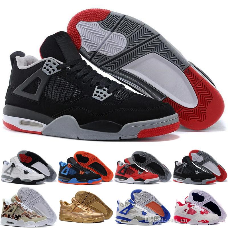 b6685d0a7669 Classic 4 Bravo Fear Pack White Cement Men Women Basketball Shoes Sneakers  Bred High Sports Shoes Sizes 5.5-13 Online with  105.33 Pair on  Cn shoes stores s ...