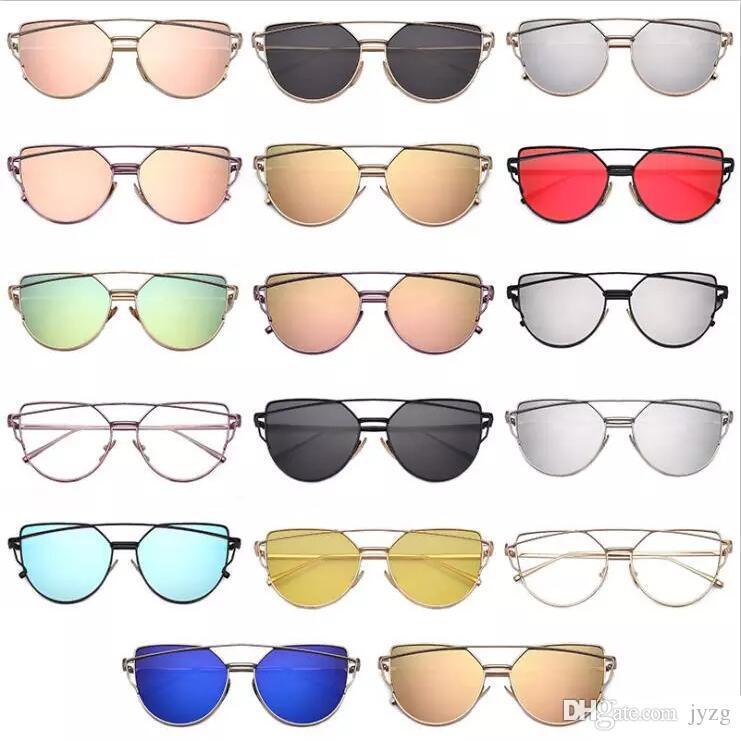 420099576af96 Wholesale Vintage Lady Rose Gold Cat Eye Sunglasses Women Brand Design Twin  Beams Optical Eyeglasses Frame Men Sun Glasses For Female Toys Discounted  Gift ...