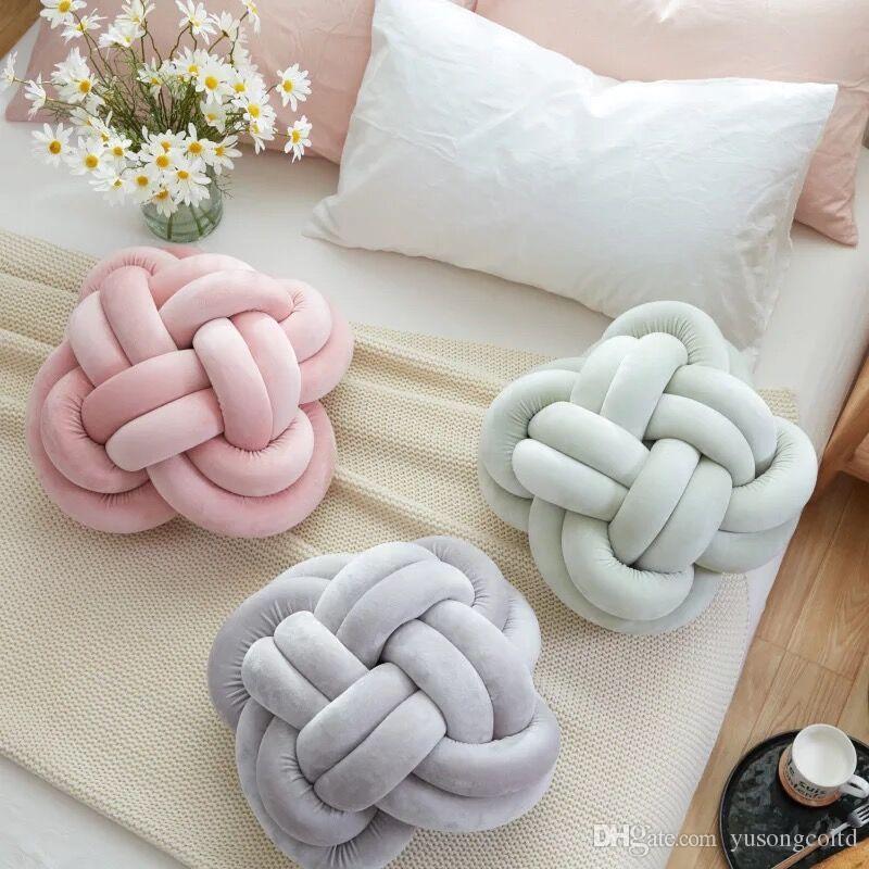 Eu Style Tie Decorative Pillow Round Originality Lovable Sofa Pillow Simple Round Decorative Pillows Sale
