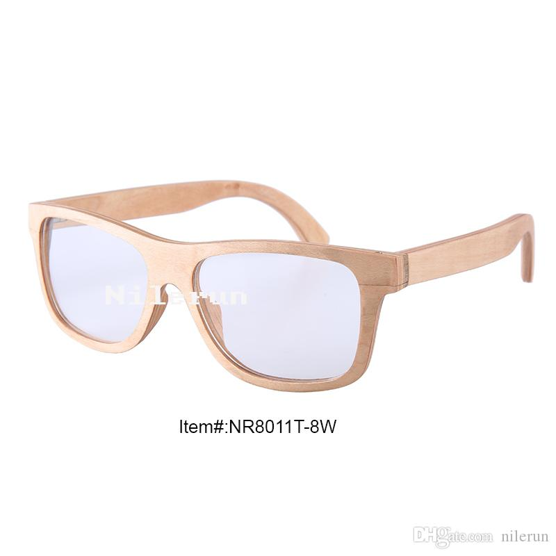 36ede9f5ad Classical Business Style Light Wood Color Optical Glasses with ...