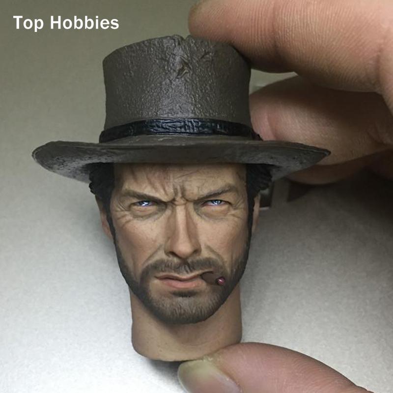 Grosshandel 1 6 Massstab Kopf Carving Testa Sculpt Clint Eastwood Fur