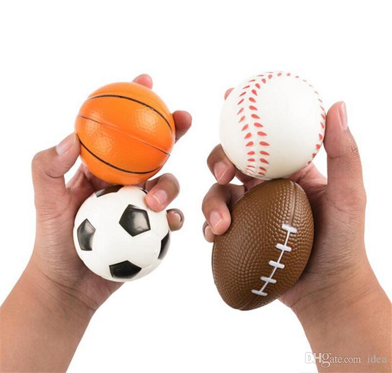 Futbol Futbol Squishy Oyuncaklar Beyzbol Basketbol Voleybol Yavaş Yükselen Jumbo Sıkmak Telefonu Charms Krem Ekmek Stres Rahatlatıcı Hediye