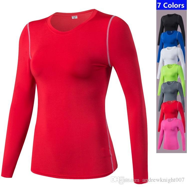 fa6c64c6 Women Long Sleeve Sport Running Shirt Quick Dry T Shirt Gym Clothing  Sportswear DK7703TSG Shirt Tees T Shirt On Shirt From Andrewknight007,  $12.07  DHgate.