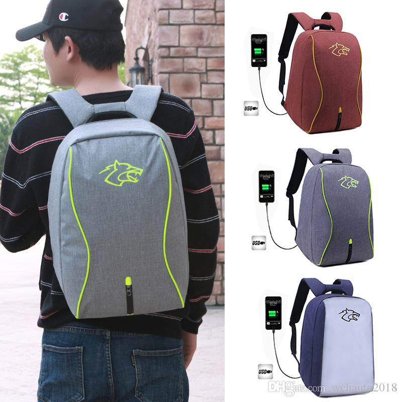 Travel Laptop Backpack with USB Port Waterproof Anti-Theft Large Shoulder Bag Daypack for Men Outdoor Sports
