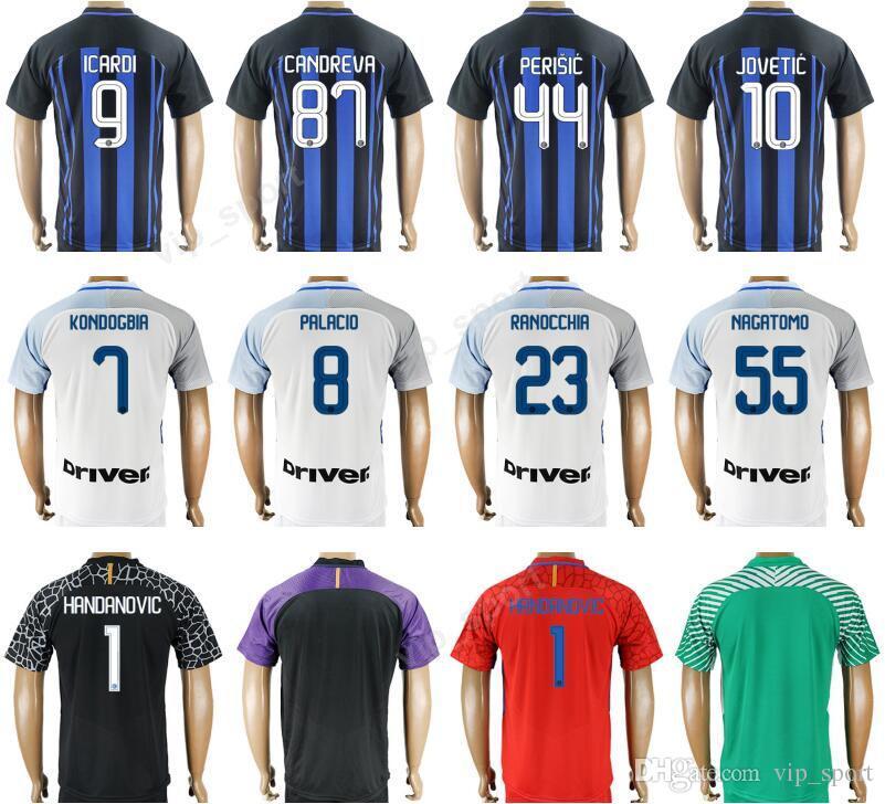 2bca0a78498 2017 2018 ICARDI Soccer Jersey 9 Thai 87 CANDREVA Football Shirt ...