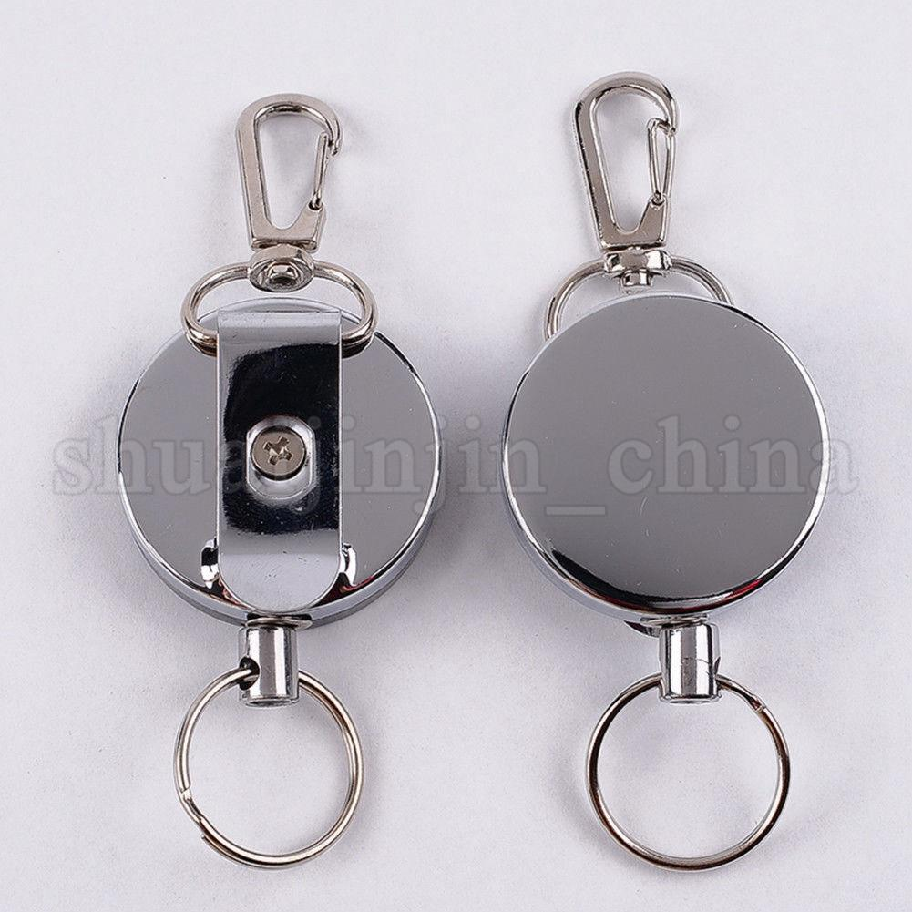 Wire Key Ring | High Resilience Steel Wire Key Chain Ring Wire Rope Chain Recoil