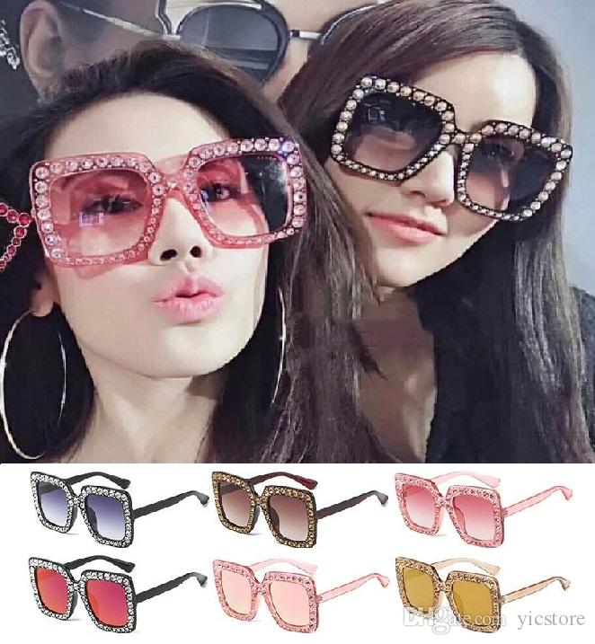 fbc8db6e67 Vintage Oversized Square Frame Bling Rhinestone Sunglasses Luxury Brand  Crystal Women Fashion Shades Bling Sunglasses Serengeti Sunglasses Sun  Glasses From ...