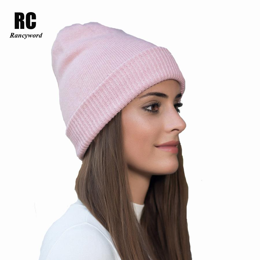 Rancyword Hot Sale Women S Winter Hats Gravity Female Cashmere Knitted Hats  For Women Thick Wool Beanies Skullies RC1217 Crochet Beanie Beanies For  Girls ... 30d7c88e9