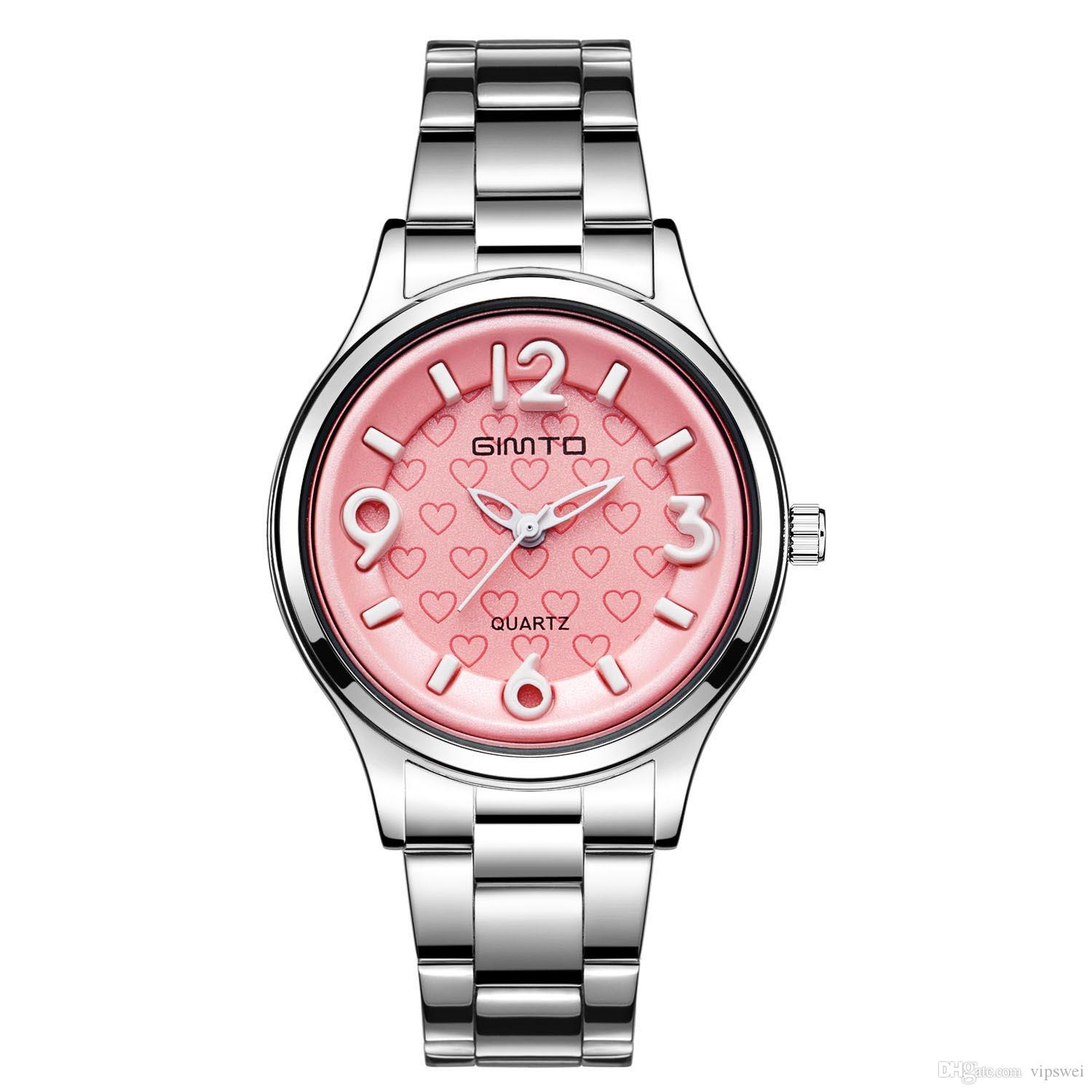 Women Costume Watch Ladies Fashion Dress Watches High Quality Student Luxury Heart Shaped Wristwatch Pink Dial Stainless Steel Strap Online Shopping Clothes ...  sc 1 st  DHgate.com & Women Costume Watch Ladies Fashion Dress Watches High Quality ...