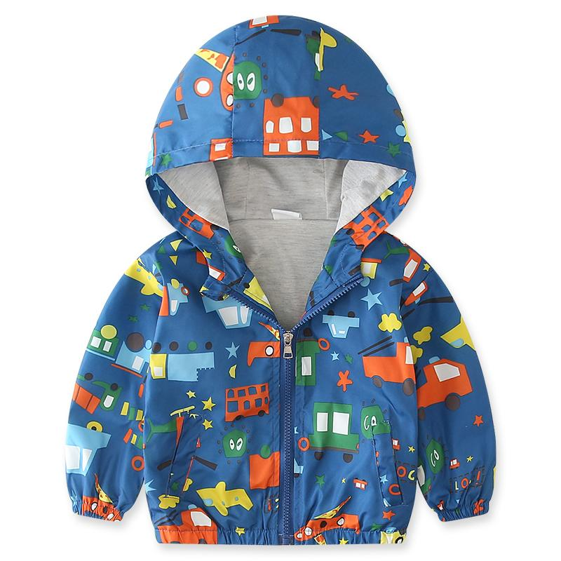 d3a9bb655 Baby Boy Kids Jacket Coat Windbreaker For Boys Children Navy Blue ...