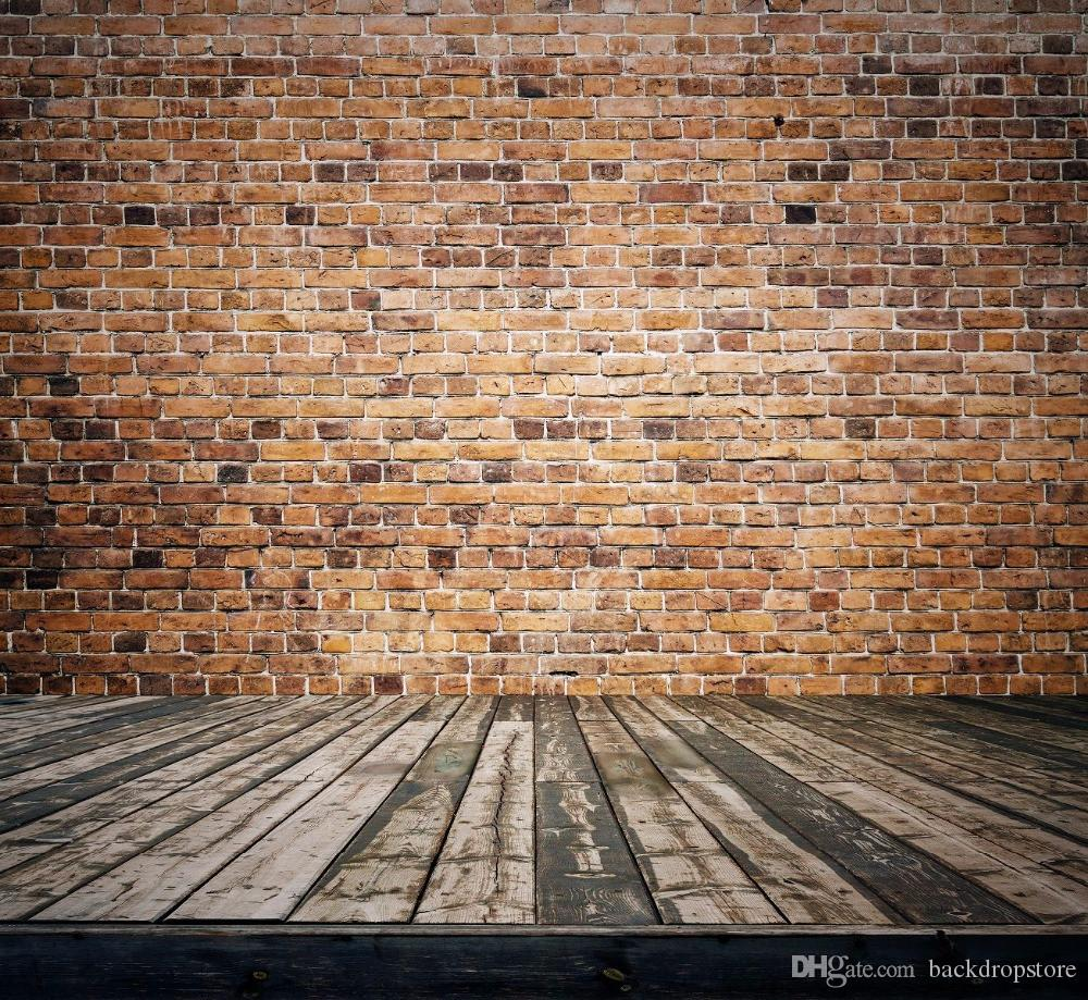 Vintage Brick Wall Backdrop Digital Printed Baby Newborn Photography Props Kids Children Studio Photo Backdrops Wood Board Flooring