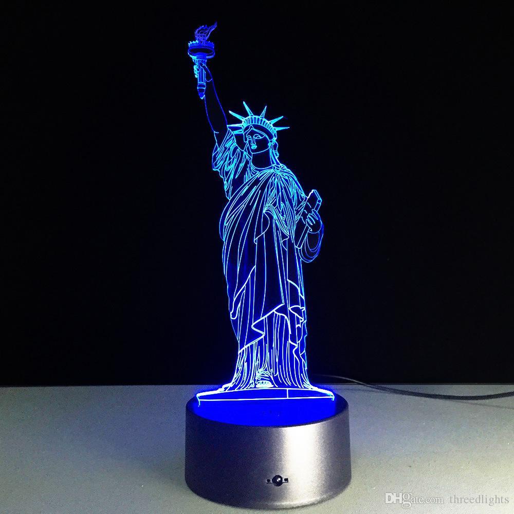 Lámpara 3D para niñas Ilusión óptica Luz nocturna 7 Interruptor táctil cambiante de color Mesa Decoración de escritorio Lámparas Regalo de Navidad perfecto con acrílico