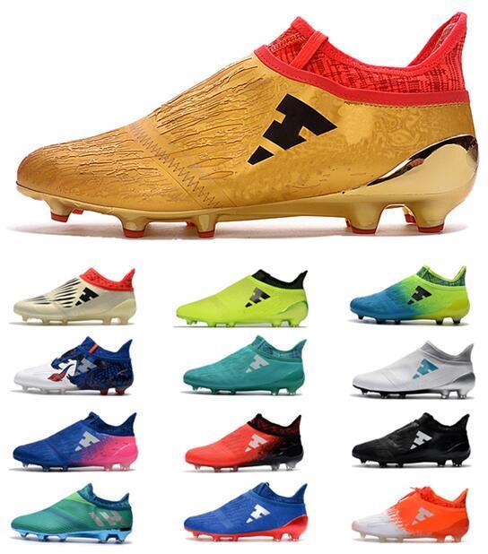 c69fd35b159 2019 Men S X 16 Purechaos FG AG Soccer Shoes Men Messi 16 Pureagility FG  Football Shoes Male Soccer Boots Football Boots Soccer Football Cle From ...