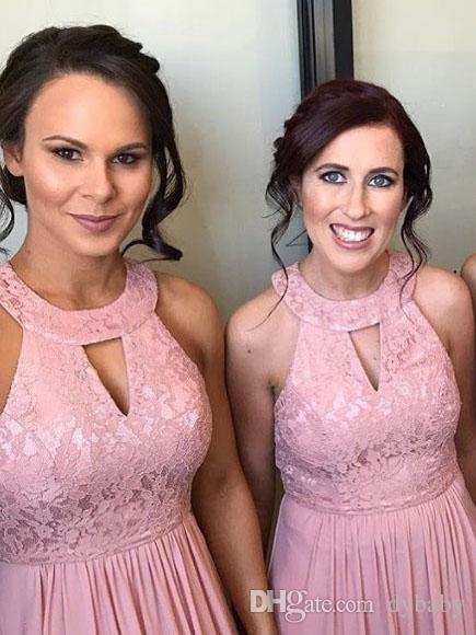 2018 sexy billig plus elegantes Kleid elegante lila Brautjungfer Kleider