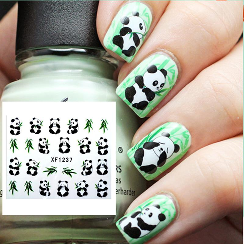 1 Sheet Cute Panda Nail Art Water Decals Vivid Feather Pattern Design  Transfers Sticker #12302 Foil Nail Art Nail Brushes From Guaye, $22.28|  Dhgate.Com - 1 Sheet Cute Panda Nail Art Water Decals Vivid Feather Pattern