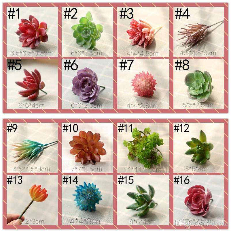 New 84 Styles Artificial Succulents Wedding Decoration Centerpieces