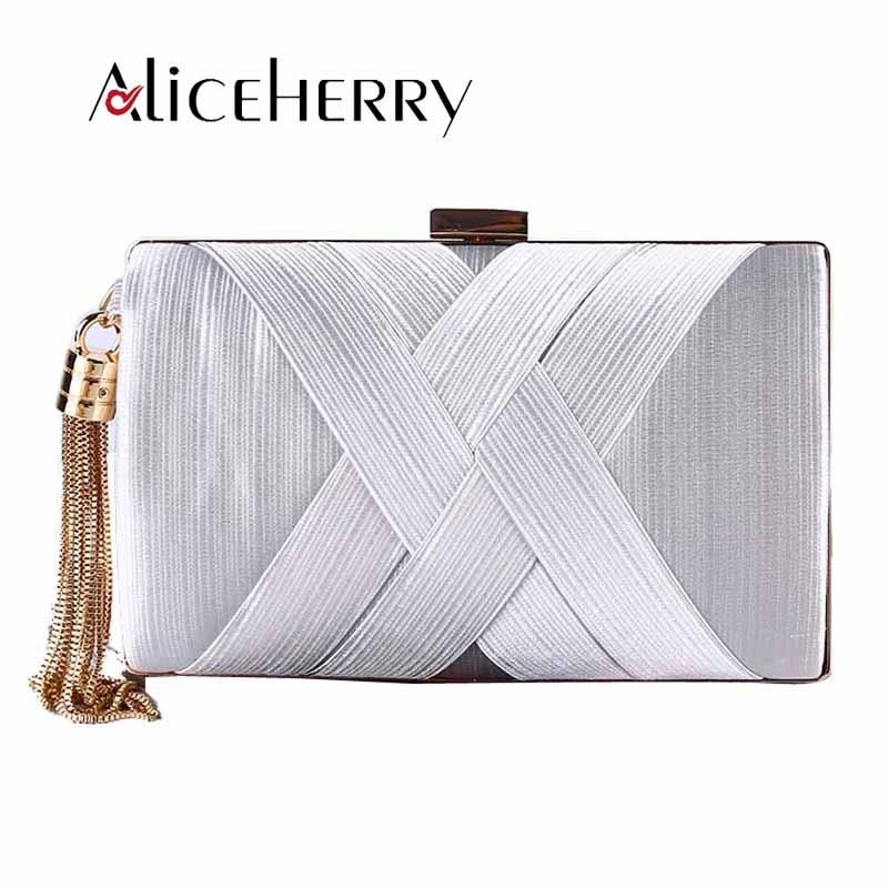Elegant Women Silk Lady Wedding Handbag Gold Green Clutch Tassel Purse  Banquet Bag Party Evening Bags Chains Pochette Soiree White Clutch  Expensive Handbags ... 97da575e29bc