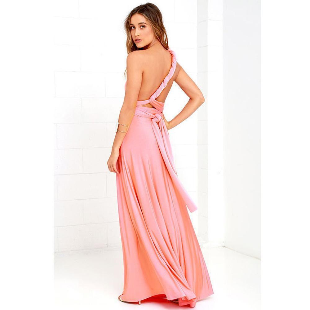 Maxi Dress Women Convertible Multi Way Wrap Bridesmaid Long Dress ...