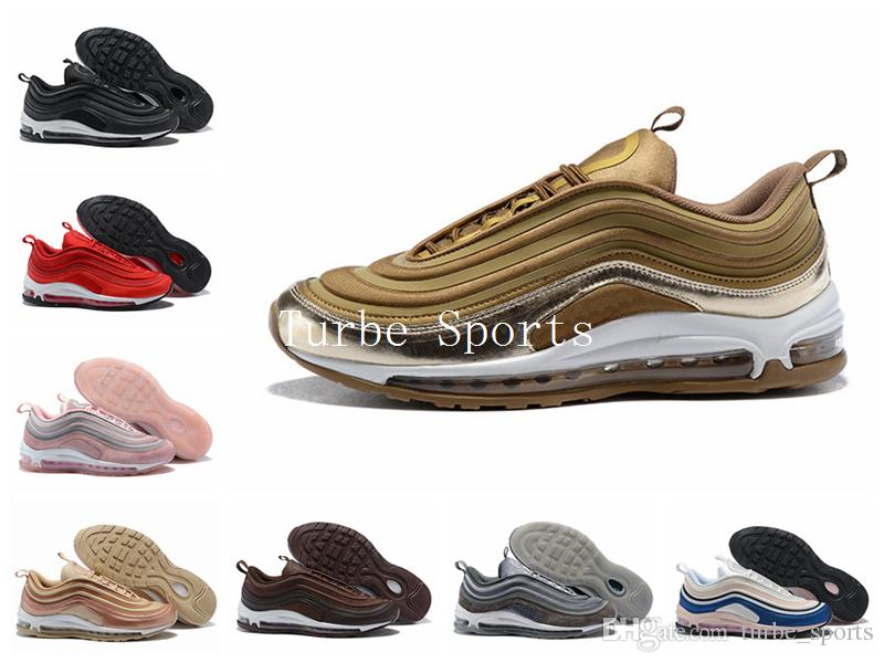 best service 0ebdb 1ffff Acquista Nuovo 97 Brand 97s Ultra 17 SE Scarpe Da Corsa Undefeated Metallic  Gold Silver Bullet University Red Rose Uomo Donna Sport Sneaker 36 46 A   97.78 ...