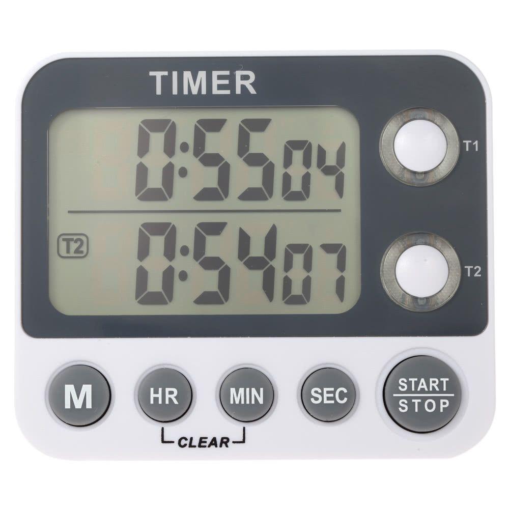 2 channel led digital kitchen timer industrial laboratorycooking