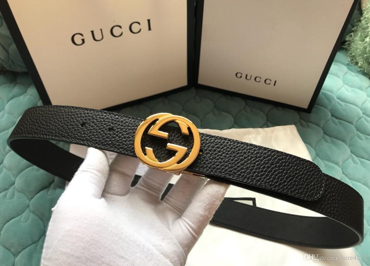 5eac26d7938 Newest Letter Buckle Genuine Leather Belt with Box Designer Belts ...