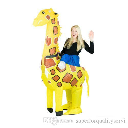 adult funny inflatable animal giraffe fancy dress costume outfit giraffe costume halloween purim stag blow up costume halloween costume themes adults family