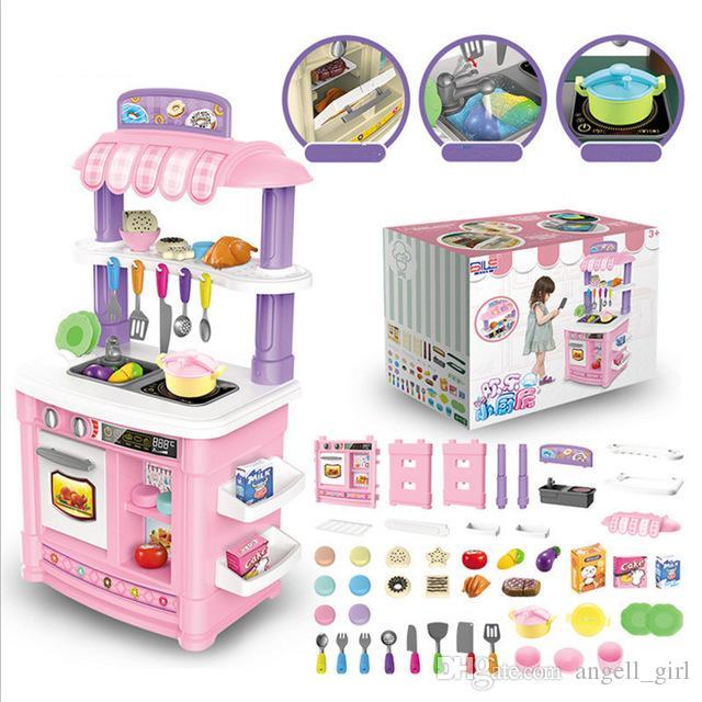 Acquista Bambini Simulazione Cucina Set Giocattoli Con Mini Cucina ...