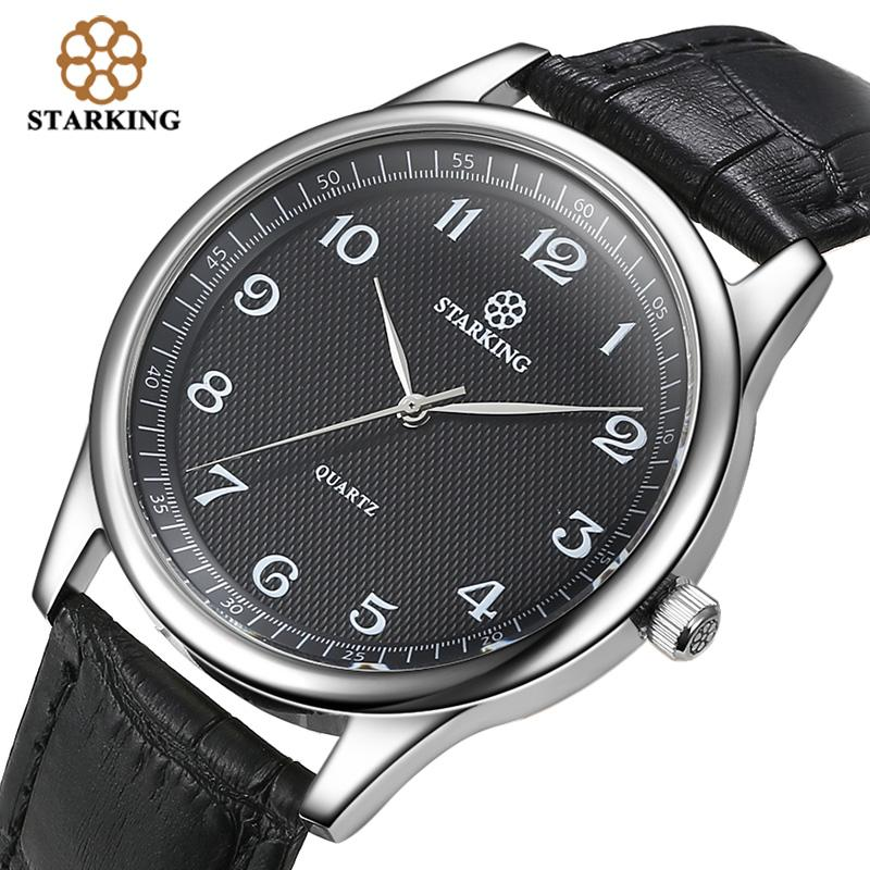 2d089ad4371 Compre STARKING Importação Japão Relógio De Quartzo Homens Moda Top Marca  Todos Os Negros De Couro Genuíno Elegante Negócio Relógio De Pulso Retro  Masculino ...