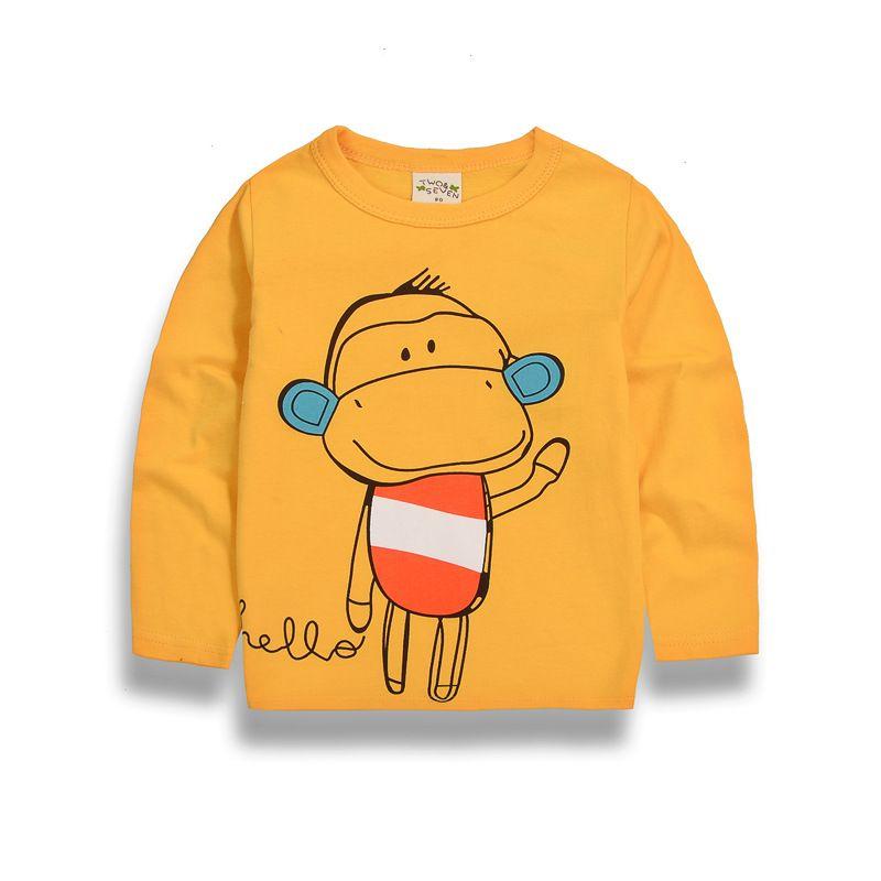 Cartoon Monkey/Giraffe/Horse Baby Boy s Clothes Full 2018 New Children Kids  Boys Girl T Shirt for Cotton Child Clothes2-10T