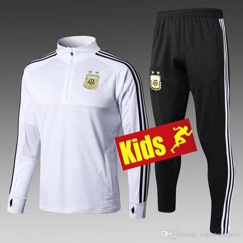 a52e83adbec 2019 2018 2019 World Cup Argentina Kids Training Suit MESSI Child Tracksuit  Soccer Jersey AGUERO KOMPANY DYBALA Higuain Jerseys Football From  Outletsmeteor