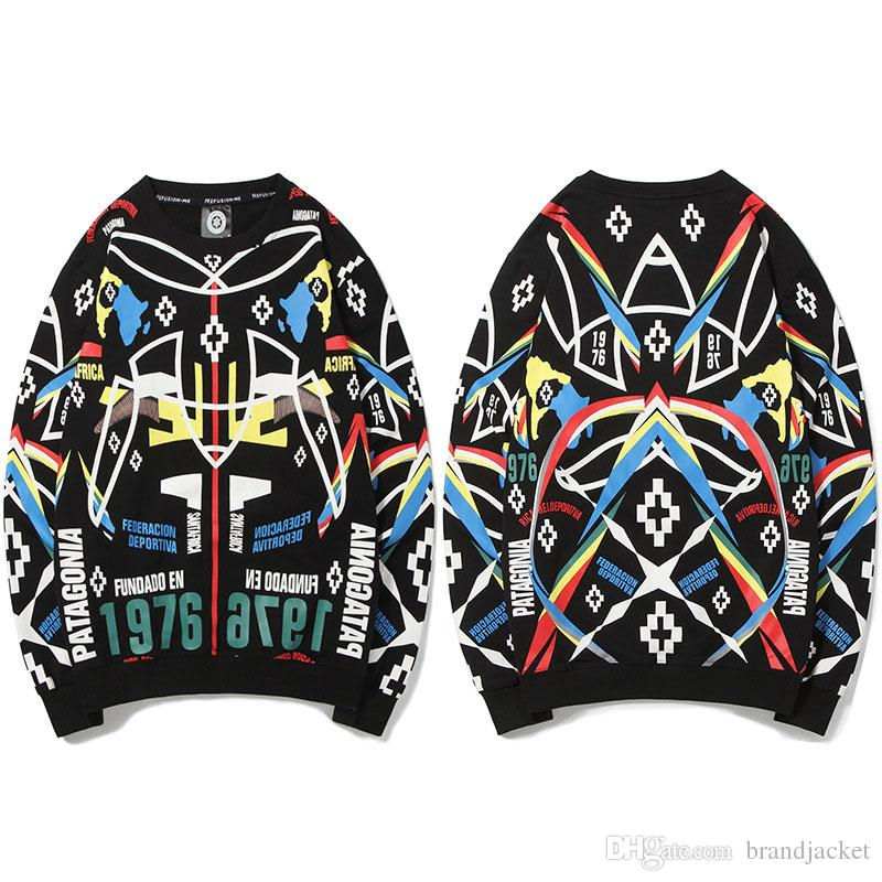 12bf3c311828 Geometric Patterns Hip Hop Men s Sweater Printed Cotton Fashion Male ...