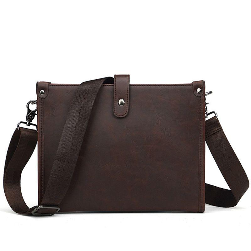 40f434f836 2019 Vintage Men Briefcase PU Leather Shoulder Bag Luxury Men ...