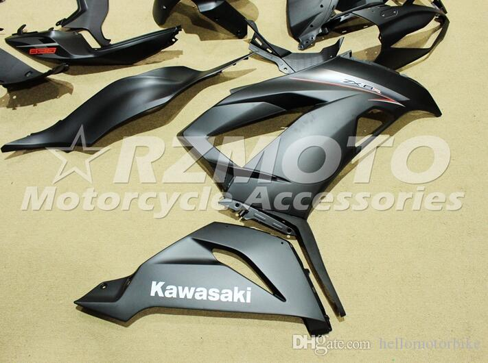 Nuovo Kit moto carenature ABS KAWASAKI Ninja ZX6R 636 2013 2014 2015 2016 2017 599 13 14 15 16 17 6R Carrozzeria nero opaco