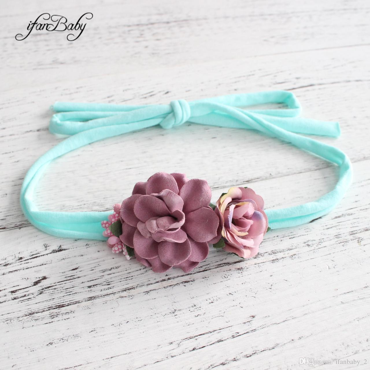 2019 Tiebacks Photography Prop Tie Back Headbands For Kids Girl Nylon  Floral Headbands Top Quality Ifanbaby From Ifanbaby 2 c4790cb780b
