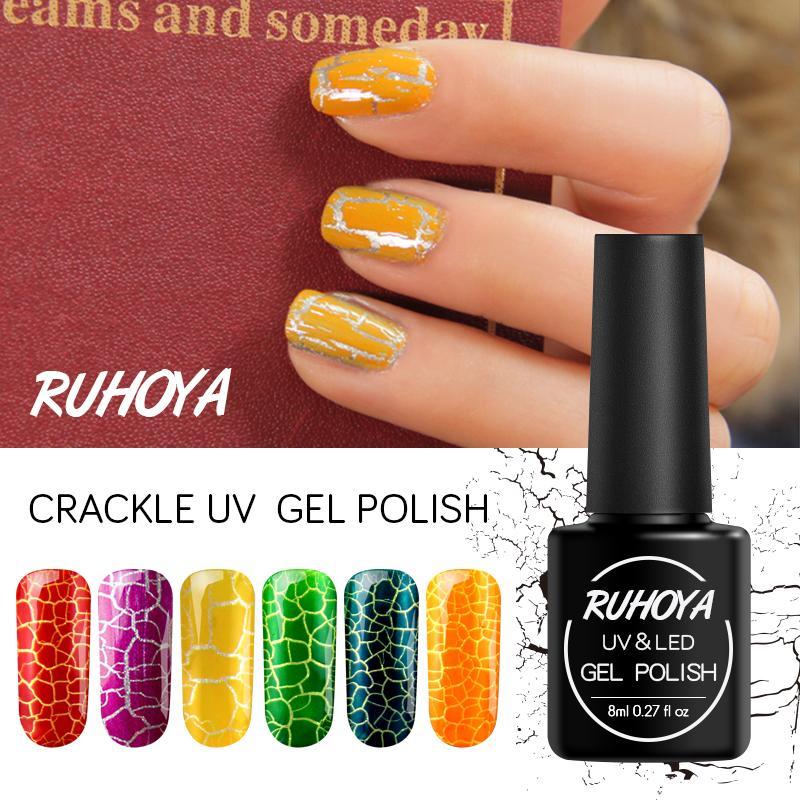 Ruhoya 8ML French Nail Glue Hybrid Varnishes Crack Acrylic Nail Art ...