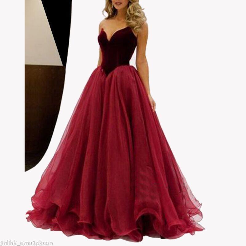 Kleid in rot lang