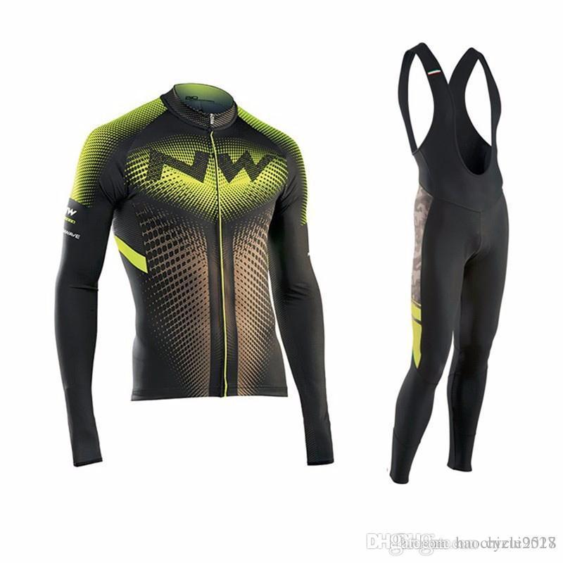 Equipo Pro NW Ciclismo Jersey Establece Ropa De Bicicleta Transpirable  Camisas De Manga Larga Pantalones Babero Traje De Hombres Ropa De Ciclismo  De Montaña ... 756be8fe0bf20